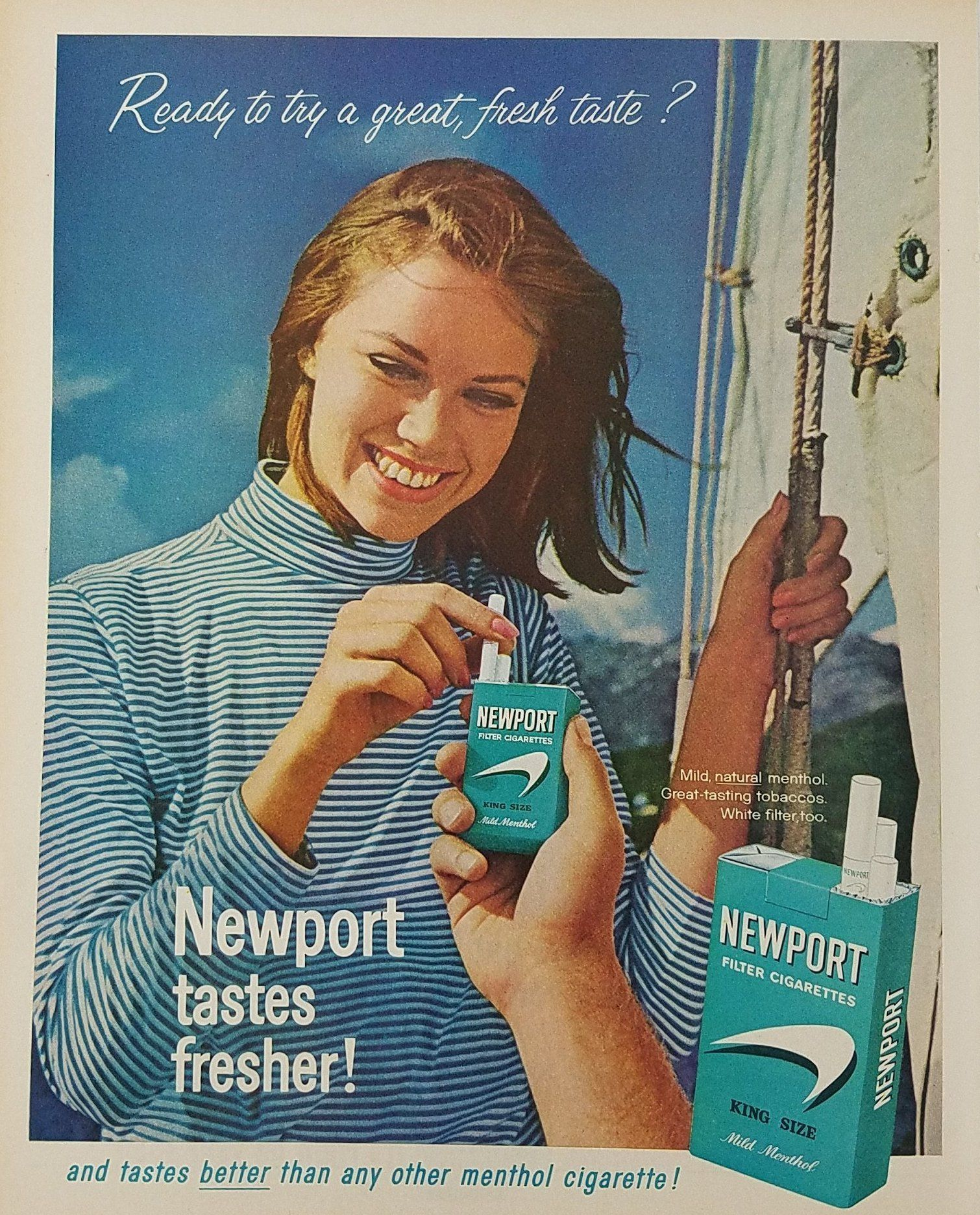 Woman Cigarettes Ads