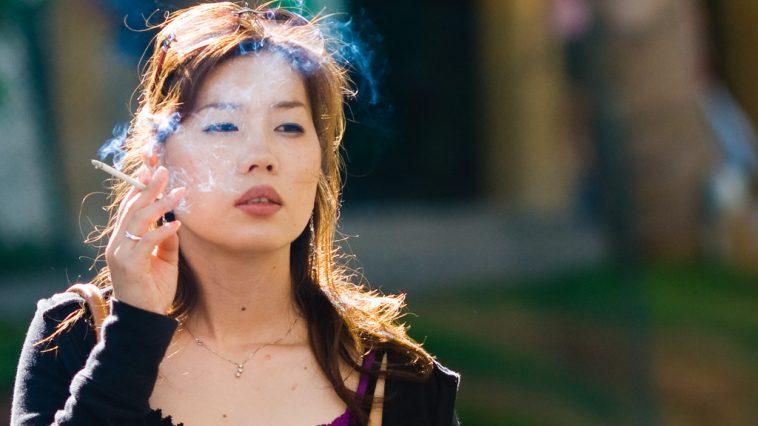 Chinese Girl Smoking