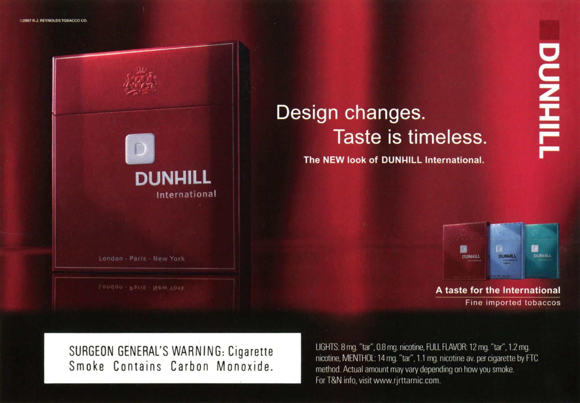 Dunhill International Ad