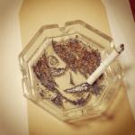 Cigarette Ash Art by Shinrashinge