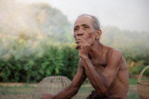 Old Man Are Smoking.