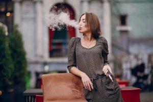 Girl With E Cigarette