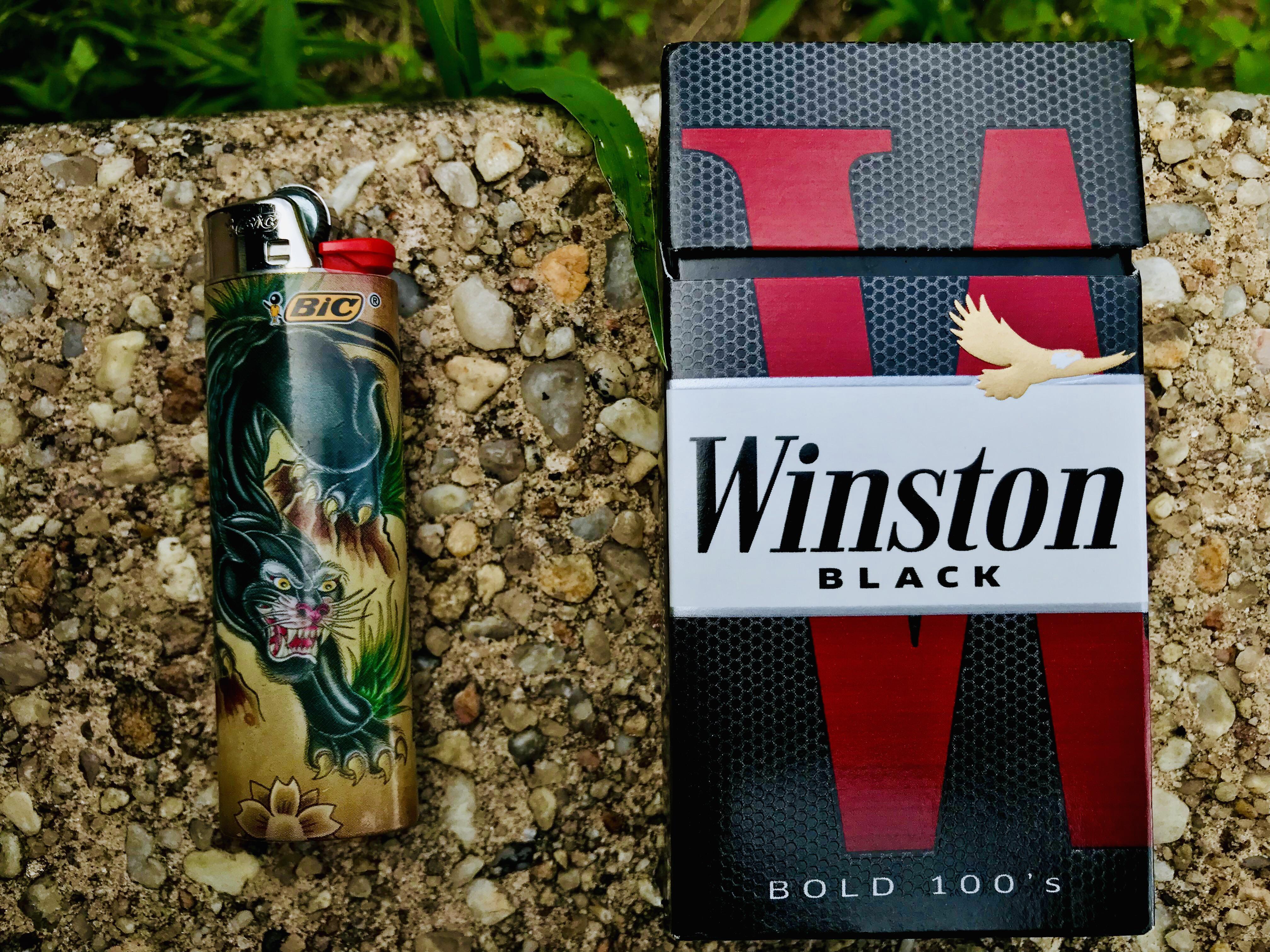 Winston Black Cigarettes