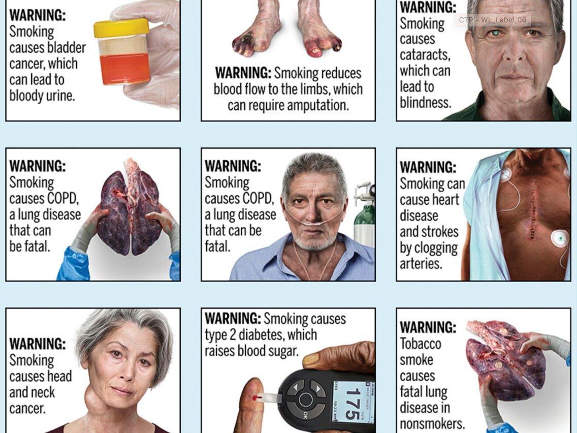 Cigarette Smoking Warning Label