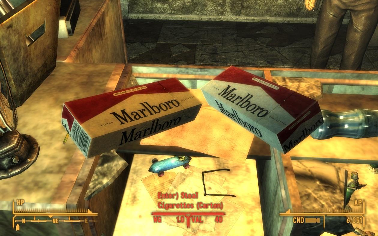 Fallout New Vegas Cigarettes