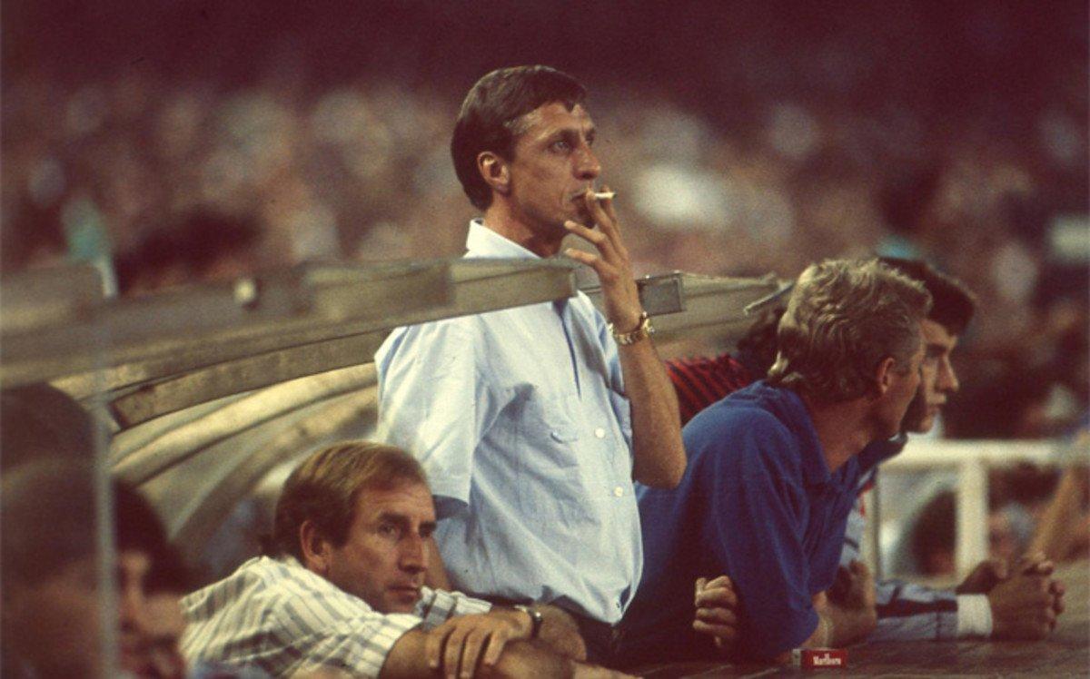 Johan Cruyff Smoking and Football