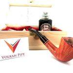 Volkan Pipe Fiammata By Alberto Paronelli Box With Italian Liquor