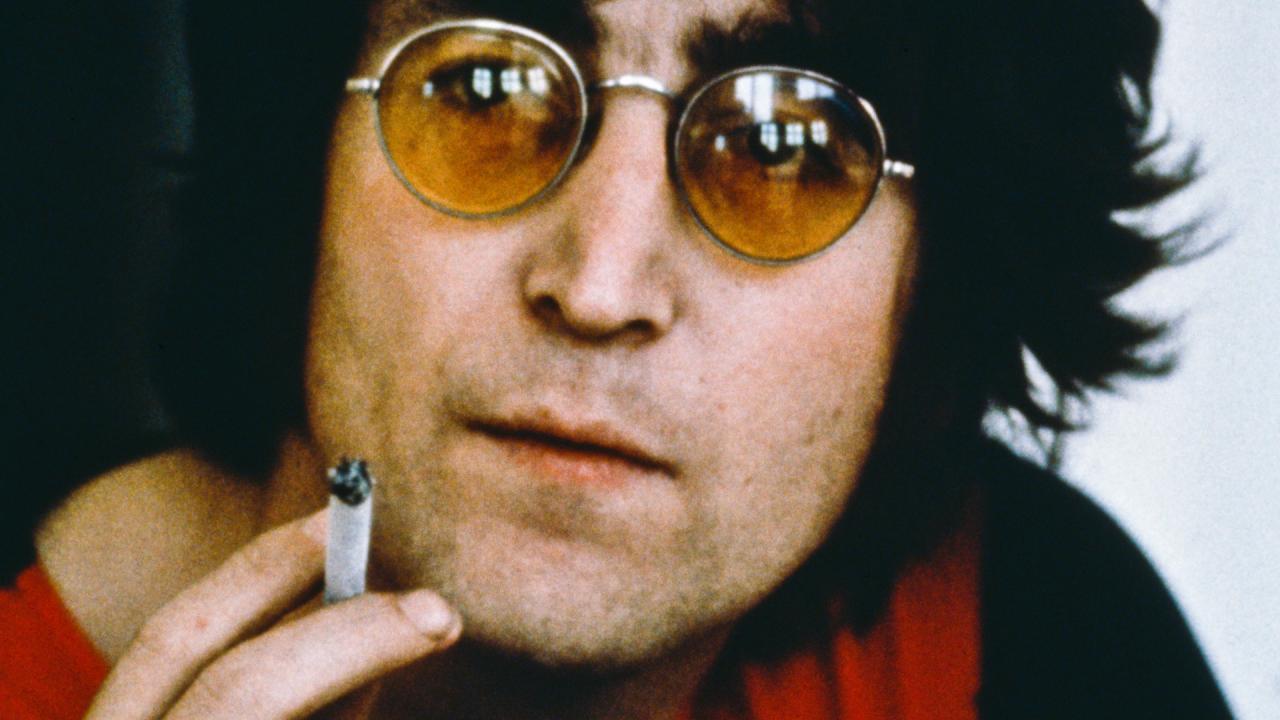 John Lennon Smoking French Cigarette