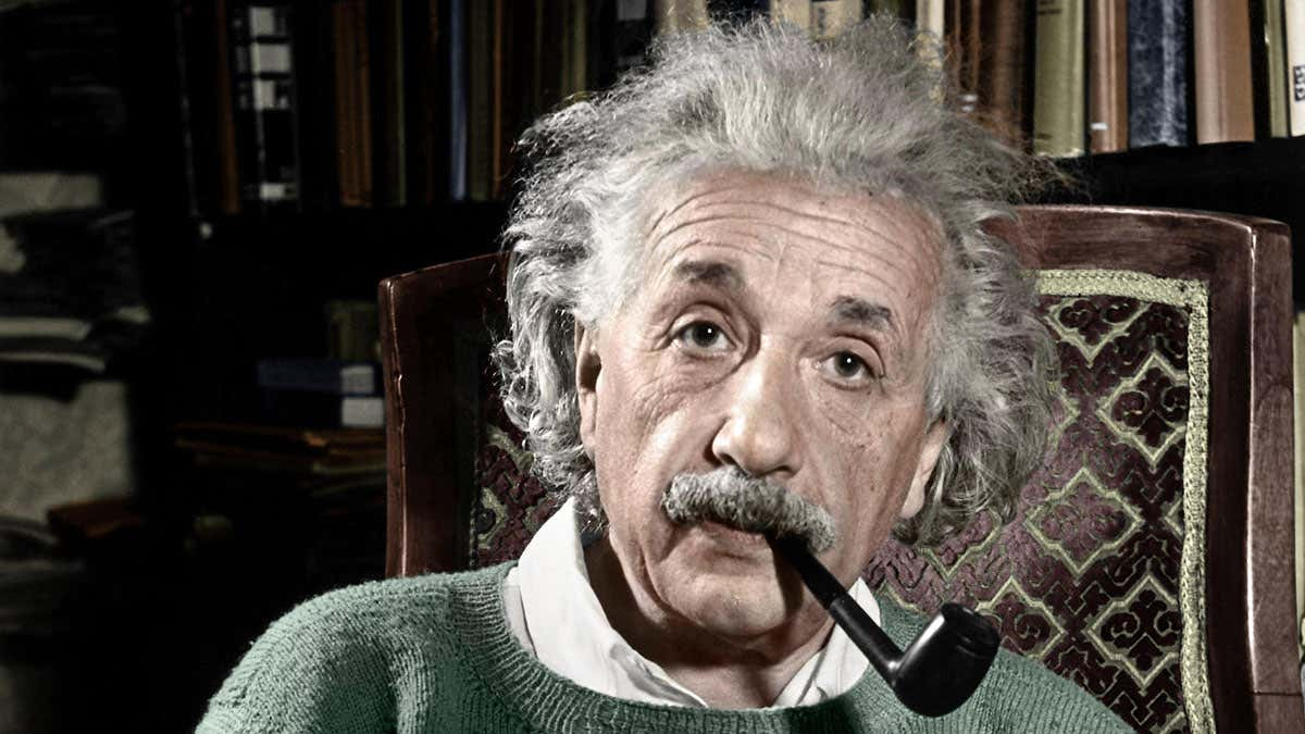 Einstein Smoking
