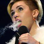 Miley Cyrus Smoking